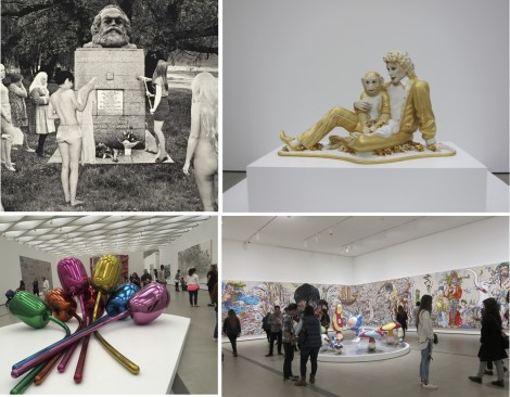 Some art shown at The Broad