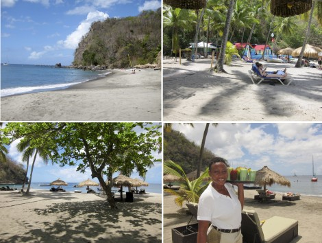 Anse Chastenet Beach Collage by Susan Manlin Katzman