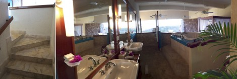 Bathroom at Jade Mountain Collage