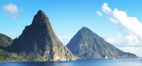 Saint Lucia's Pitons by Susan Manlin Katzman