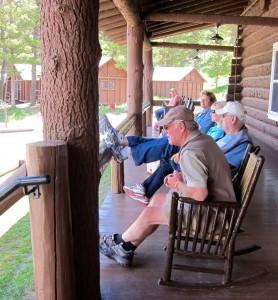 Porch at Roosevelt Lodge