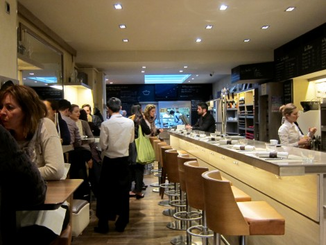 Counter and High Tables at Les Cocottes by Susan Manlin Katzman