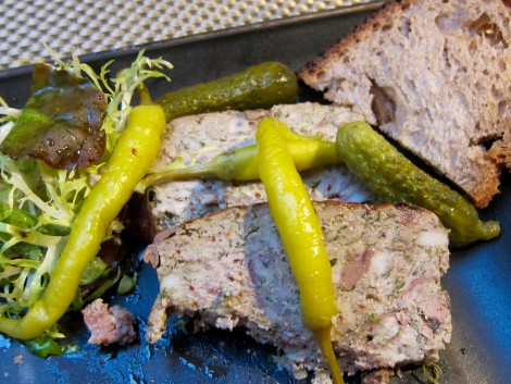 Country-style pate at Les Cocottes by Susan Manlin Katzman