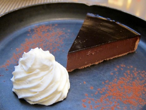 The Fabulous Christian Constant Chocolate Tart served at Les Cocottes by Susan Manlin Katzman