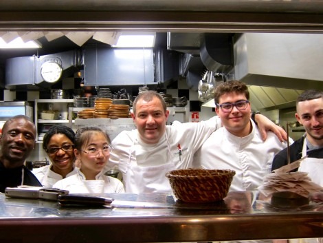 Philippe Cadeau (center) and Staff