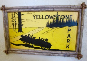 Yellowstone Park sign by Susan Manlin Katzman
