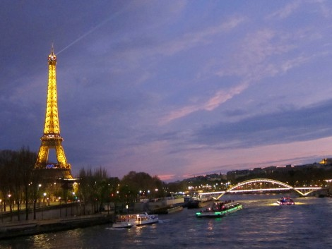 Eiffel Tower from the Seine River by Susan Manlin Katzman