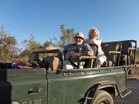 Boarded on a Land Rover Ready for Safari