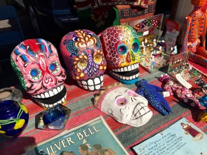 Masks at Rose Bowl Flea Market by Susan Manlin Katzman