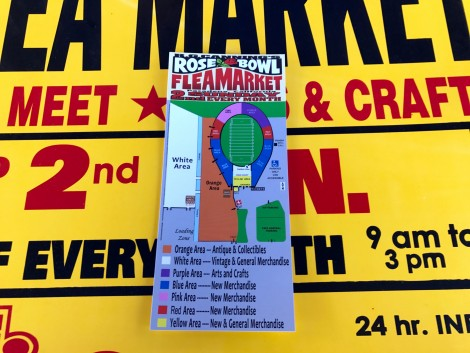 Map of Rose Bowl Flea Market
