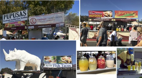 Collage of Food at Rose Bowl Flea Market by Susan Manlin Katzman
