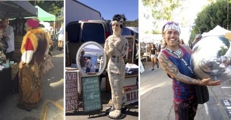Shoppers collage by Susan Manlin Katzman