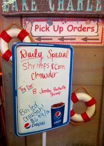 Sign at Steamboat Bill's by Susan Manlin Katzman