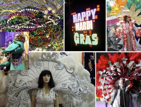 Mardi Gras in Lake Charles collage by Susan Manlin Katzman