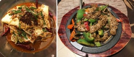 Hot Chili Catfish and Sizzling Black Pepper Beef
