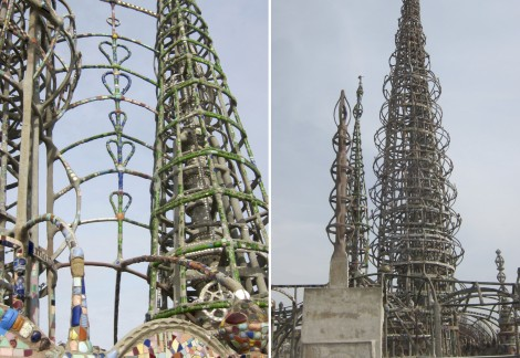 Collage of Watts Towers by Susan Manlin Katzman