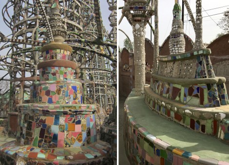 Collage of Boat and Tiers at Watts Towers by Susan Manlin Katzman
