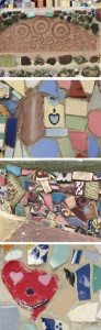 Collage Details at Watts Tower by Susan Manlin Katzman