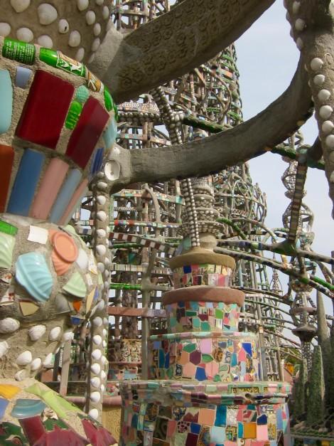 Sculpture at Simon Rodia's Watts Towers by Susan Manlin Katzman
