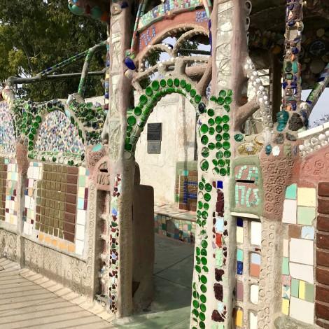 Arched Wall at Watts Towers by Susan Manlin Katzman