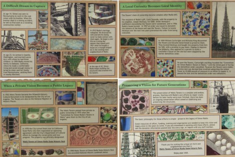 Collage of Signs at Watts Tower by Susan Manlin Katzman