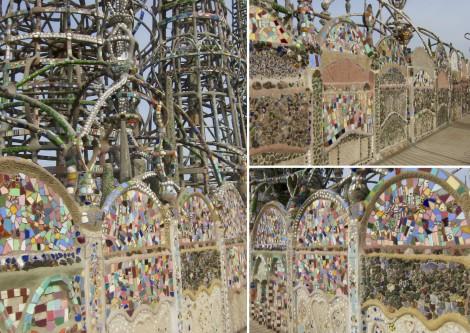Collage of Wall at Watts Tower by Susan Manlin Katzman