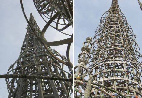 Collage of Towers at Watts Towers by Susan Manlin Katzman