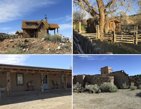 Collage Four Guest Houses at Canyon of the Ancients Guest Ranch by Susan Manlin Katzman