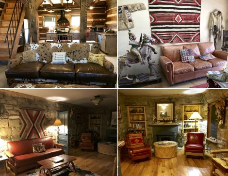 Stylish Seating Arrangements at Canyon of the Ancients Guest Ranch collage by Susan Manlin Katzman