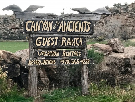 Canyon of the Ancients Guest Ranch Sign by Susan Manlin Katzman