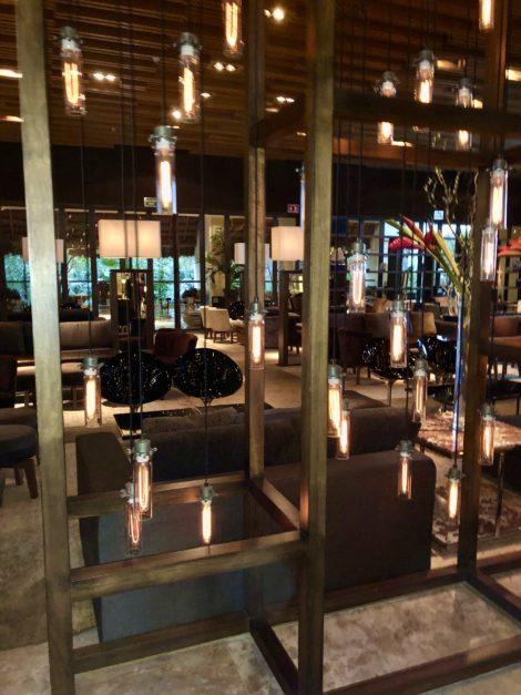 Soft lights fill the romantic Kio Bar located in the Grand Velas Riviera Maya Resort