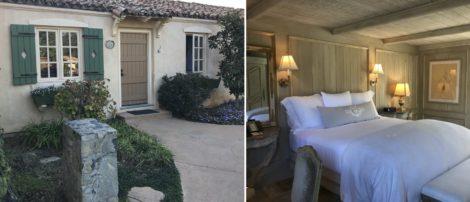 Front door to bedroom and bedroom at Cal-a-Vie.