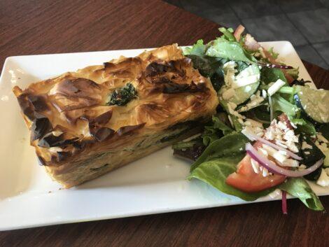 Spinach Spanakopita as served at Cafe Nova