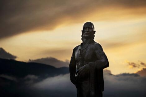Statue of Native American