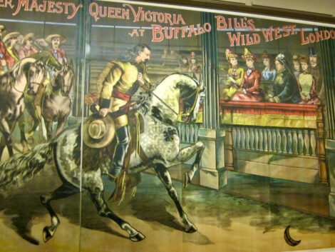 Poster of Buffalo Bill greeting Queen Victoria