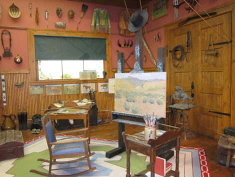 Artist studio in the Buffalo Bill Center of the West
