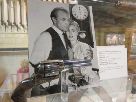 Gun from movie High Noon on display in the Buffalo Bill Center of the West