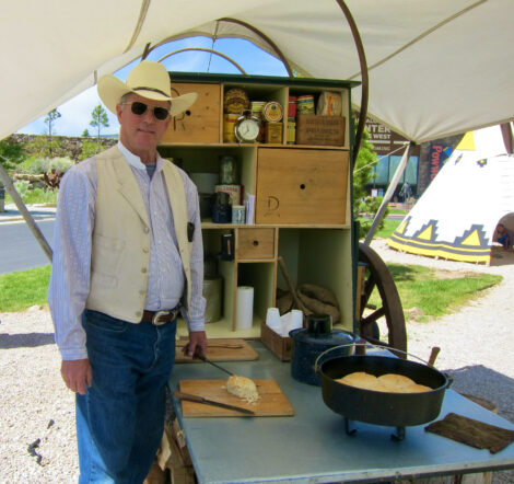 Fred Breisch cooking at The Buffalo Bill Center of the West.