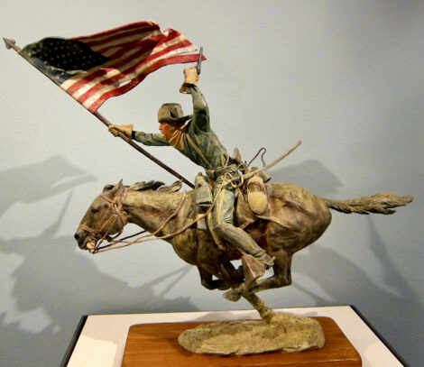 Man on horse statue from The Buffalo Bill Center of the West